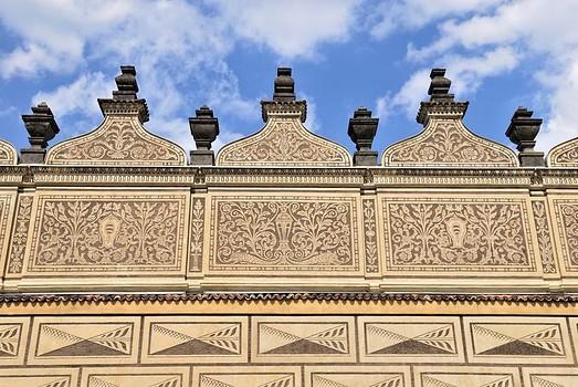 Sgraffito Facade Schwarzenberg Palace Prague Czech Republic yooniqimages