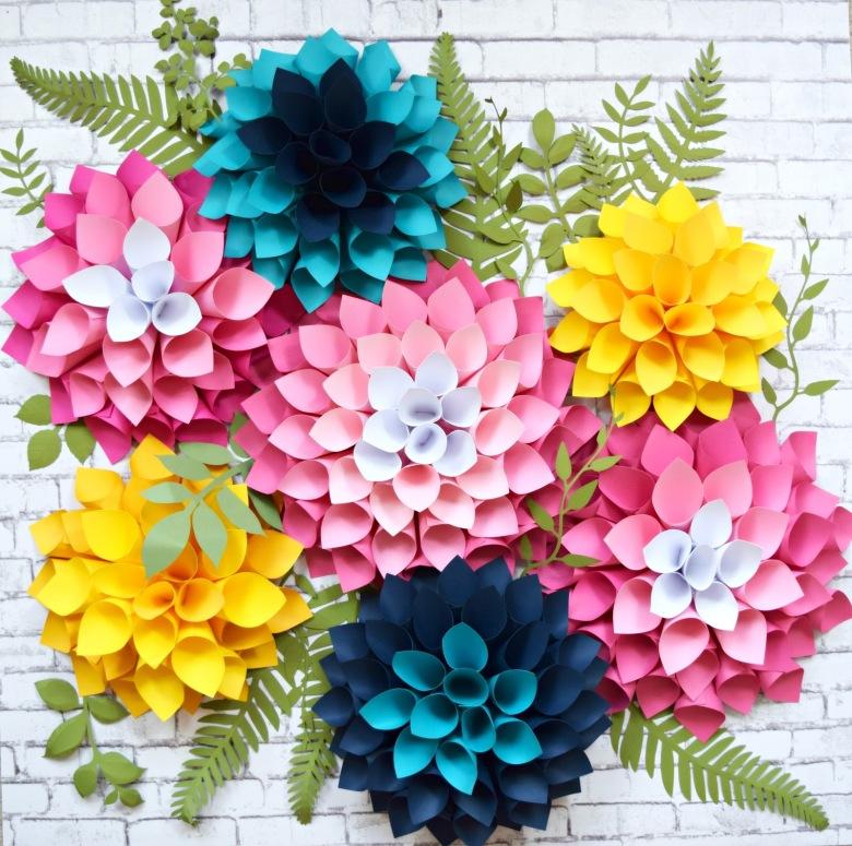 DIY Giant Dahlia Paper Flowers: How to Make Large Paper Dahlias