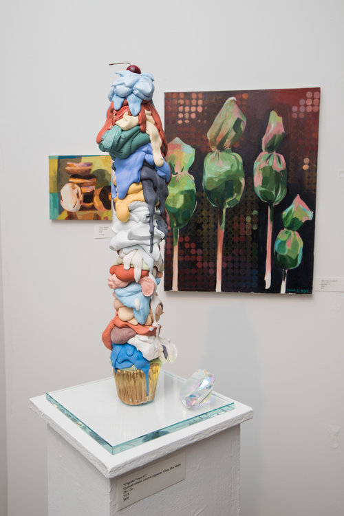 "Detail of ""Cupcake Tower #1"" at show"